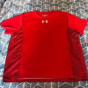 Under Armour youth red heatgear shirt